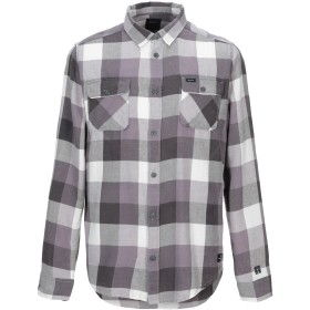 《セール開催中》RVCA メンズ シャツ グレー S コットン 100%