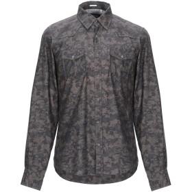 《期間限定セール開催中!》OGNUNOLASUA by CAMICETTASNOB メンズ シャツ ダークブラウン 39 コットン 100%