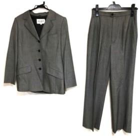 【中古】 ジュンアシダ JUN ASHIDA レディースパンツスーツ サイズ9 M レディース 美品 ライトグレー 黒