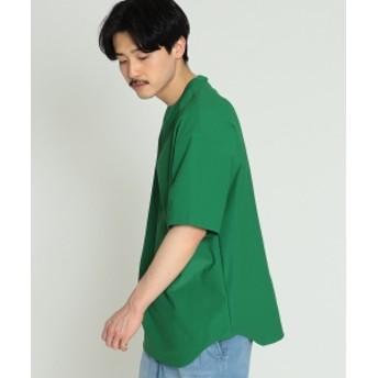 BEAMS / プレーティング 天竺 Tシャツ メンズ Tシャツ GREEN S