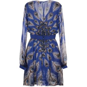 《セール開催中》JUST CAVALLI レディース ミニワンピース&ドレス ブルー 40 シルク 100%