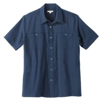しじら織カバン要らず半袖カジュアルシャツ カジュアルシャツ