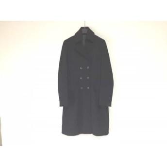 【中古】 ラム hLam コート サイズ42 L メンズ 黒 冬物