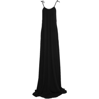 《セール開催中》ROSETTA GETTY レディース ロングワンピース&ドレス ブラック S レーヨン 100% / 革