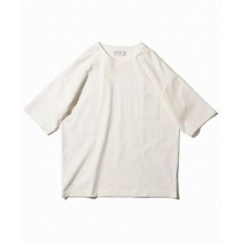 【カタログ掲載】B:MING by BEAMS / ヘビーウェイト ドロップショルダー ポケット Tシャツ メンズ Tシャツ WHITE M