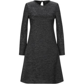 《セール開催中》VANESSA SCOTT レディース ミニワンピース&ドレス ブラック M ポリエステル 76% / 金属繊維 20% / ポリウレタン 4%