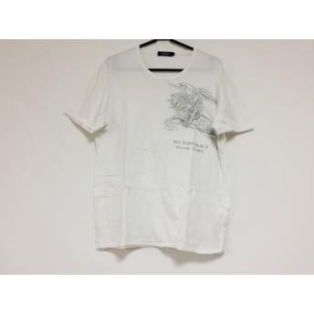 【中古】 バーバリーブラックレーベル 半袖Tシャツ サイズ3 L メンズ 白 ダークグレー