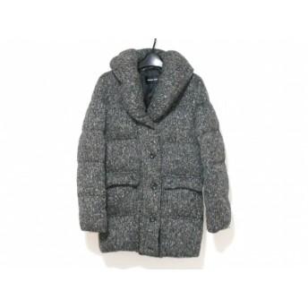 【中古】 メイソングレイ MAYSON GREY ダウンコート サイズ2 M レディース ダークグレー マルチ 冬物