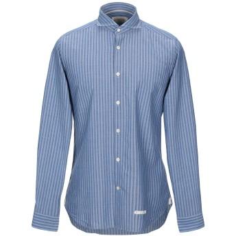 《9/20まで! 限定セール開催中》TINTORIA MATTEI 954 メンズ シャツ ブルー 39 コットン 98% / ポリウレタン 2%