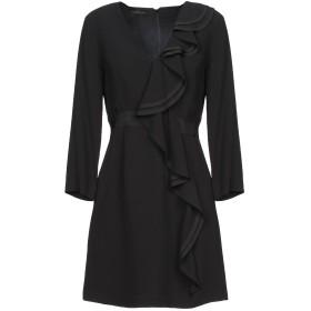 《期間限定セール中》ATOS LOMBARDINI レディース ミニワンピース&ドレス ブラック 42 レーヨン 100%
