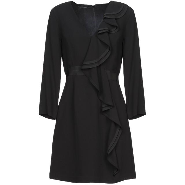 《セール開催中》ATOS LOMBARDINI レディース ミニワンピース&ドレス ブラック 40 レーヨン 100%