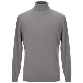 《セール開催中》LOW BRAND メンズ タートルネック グレー 3 ウール 70% / カシミヤ 30%