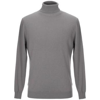 《セール開催中》LOW BRAND メンズ タートルネック グレー 5 ウール 70% / カシミヤ 30%