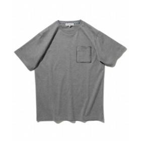 B:MING by BEAMS / チェック ポケットTシャツ メンズ Tシャツ GREY L