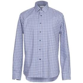 《期間限定 セール開催中》CALLISTO CAMPORA メンズ シャツ ブルー 42 コットン 100%