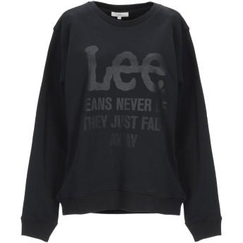 《期間限定セール開催中!》LEE レディース スウェットシャツ ブラック S コットン 100%