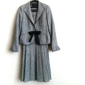 【中古】 ニジュウサンク 23区 ワンピーススーツ サイズ38 M レディース 美品 リボン/ラメ/ビジュー
