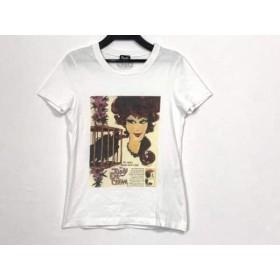 【中古】 ディーアンドジー D & G 半袖Tシャツ サイズXS レディース 白 ダークブラウン マルチ
