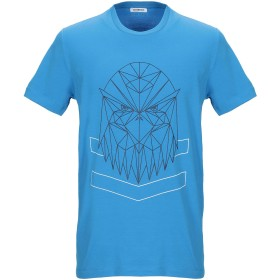 《9/20まで! 限定セール開催中》BIKKEMBERGS メンズ T シャツ アジュールブルー S コットン 96% / ポリウレタン 4%
