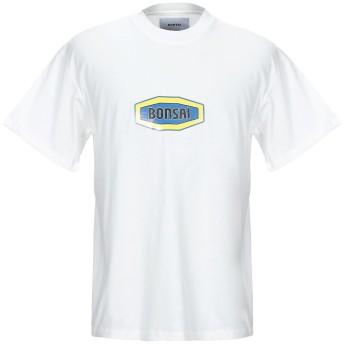 《9/20まで! 限定セール開催中》BONSAI メンズ T シャツ ホワイト M コットン 100%
