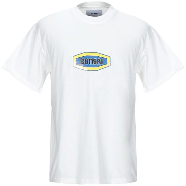 《期間限定セール開催中!》BONSAI メンズ T シャツ ホワイト M コットン 100%