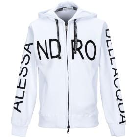 《セール開催中》ALESSANDRO DELL'ACQUA メンズ スウェットシャツ ホワイト S コットン 100%