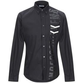 《期間限定セール開催中!》BIKKEMBERGS メンズ シャツ ブラック 40 コットン 96% / ポリウレタン 4%