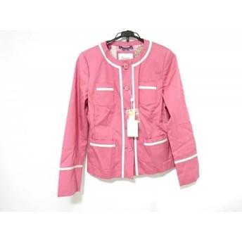 【中古】 ヘルノ HERNO ジャケット サイズ48 XL レディース ピンク 白