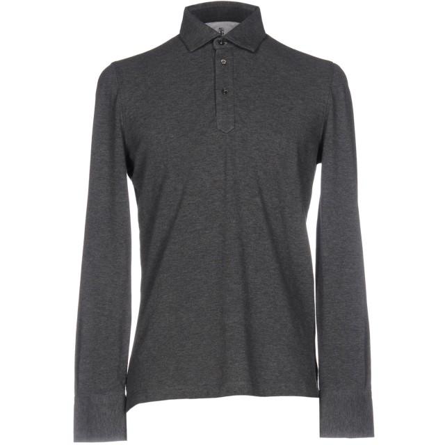 《期間限定セール開催中!》BRUNELLO CUCINELLI メンズ ポロシャツ 鉛色 S コットン 100%
