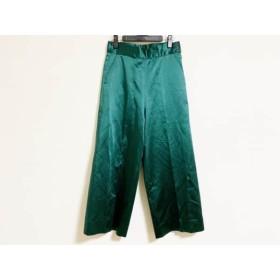 【中古】 サイ SCYE パンツ サイズ38 M レディース ダークグリーン
