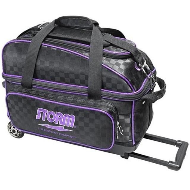 ハイ スポーツ(Hi-SP) ボウリングバッグ SB149-DA 2ボールキャリーバッグ ブラック×パープル P-2210 ボーリング ボールケース ボール入れ 鞄 バッグ
