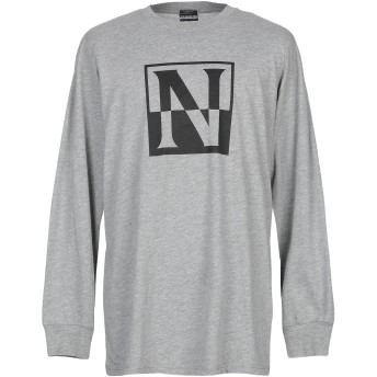《9/20まで! 限定セール開催中》NAPAPIJRI メンズ T シャツ グレー L コットン 80% / ポリエステル 20%