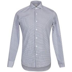 《9/20まで! 限定セール開催中》ALESSANDRO GHERARDI メンズ シャツ ダークブルー 39 コットン 100%