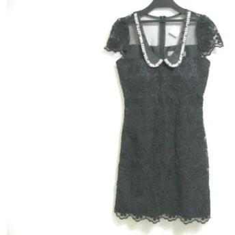 【中古】 アン an ドレス サイズS レディース 黒 ビジュー
