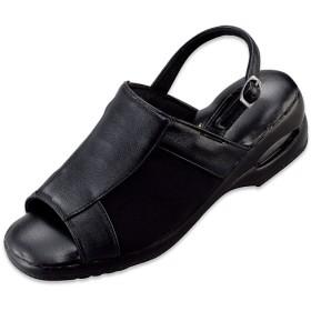 エアソール オフィスサンダル - セシール ■カラー:ブラックA ■サイズ:S(22.5-23cm),L(23.5-24cm),M(23-23.5cm)