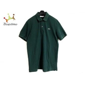 ラコステ Lacoste 半袖ポロシャツ サイズ3 L レディース グリーン×ライトグリーン ドット柄 スペシャル特価 20190714