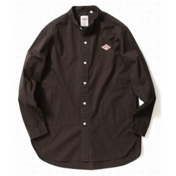 DANTON × B:MING by BEAMS / 別注 ツイル バンドカラー シャツ メンズ カジュアルシャツ COAL GREY 42