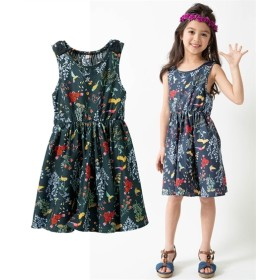 肩リボンが可愛い♪サンドレス(女の子 子供服。ジュニア服) ワンピース
