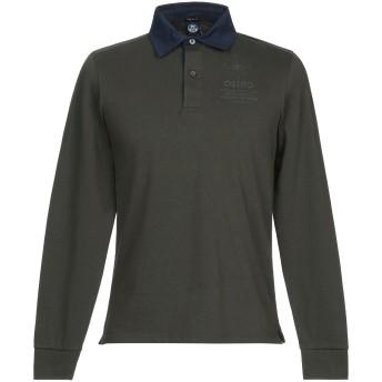 《期間限定セール開催中!》NORTH SAILS メンズ ポロシャツ ミリタリーグリーン S コットン 100%