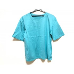 【中古】 レリアン Leilian 半袖Tシャツ サイズ11 M レディース エメラルドグリーン 肩パッド着脱可
