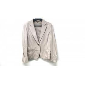 【中古】 ニジュウサンク 23区 ジャケット サイズ48 XL レディース ベージュ