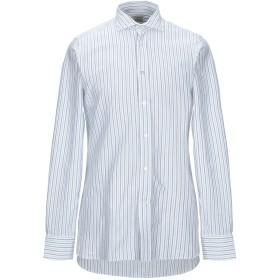 《期間限定セール開催中!》BORRIELLO NAPOLI メンズ シャツ ホワイト 40 コットン 100%