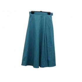 【中古】 グーコミューン GOUT COMMUN スカート サイズ36 S レディース ブルーグリーン