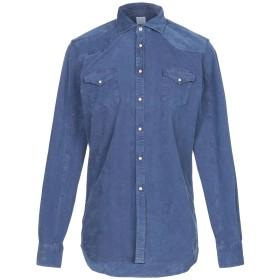 《期間限定セール開催中!》ALESSANDRO GHERARDI メンズ シャツ ブルー L コットン 97% / ポリウレタン 3%
