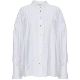 《期間限定 セール開催中》VICOLO レディース シャツ ホワイト L コットン 100%