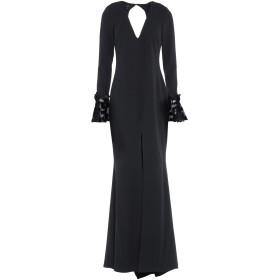 《期間限定セール中》SOANI レディース ロングワンピース&ドレス ブラック 42 ポリエステル 100%