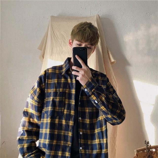 ※新生活応援SALE※ メンズファッション メンズ チェック柄 シャツ 長袖 シャツ 厚手のジャケット トレンド bf風 シャツ