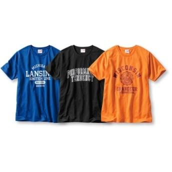 吸汗速乾半袖プリントTシャツ3枚組(アメカジ) Tシャツ・カットソー