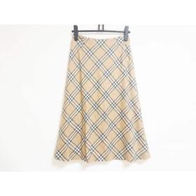 【中古】 バーバリーロンドン ロングスカート サイズ38 L レディース ベージュ マルチ チェック柄