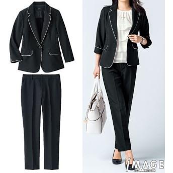 50%OFF【レディース】 洗えるパンツスーツ ■カラー:ブラック ■サイズ:5号(プチサイズ)